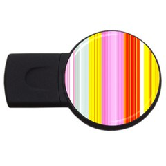 Multi Colored Bright Stripes Striped Background Wallpaper Usb Flash Drive Round (4 Gb)