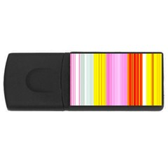 Multi Colored Bright Stripes Striped Background Wallpaper Usb Flash Drive Rectangular (4 Gb)