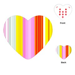Multi Colored Bright Stripes Striped Background Wallpaper Playing Cards (heart)