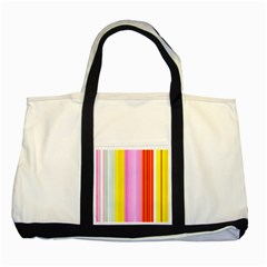 Multi Colored Bright Stripes Striped Background Wallpaper Two Tone Tote Bag