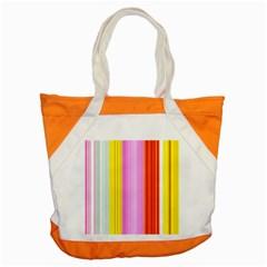 Multi Colored Bright Stripes Striped Background Wallpaper Accent Tote Bag