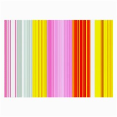 Multi Colored Bright Stripes Striped Background Wallpaper Large Glasses Cloth (2 Side)