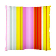 Multi Colored Bright Stripes Striped Background Wallpaper Standard Cushion Case (two Sides)