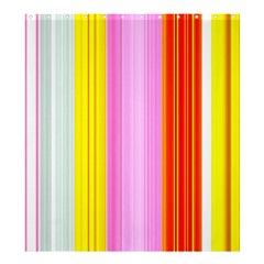 Multi Colored Bright Stripes Striped Background Wallpaper Shower Curtain 66  X 72  (large)