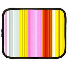 Multi Colored Bright Stripes Striped Background Wallpaper Netbook Case (XL)