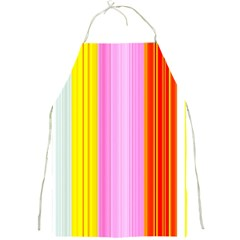 Multi Colored Bright Stripes Striped Background Wallpaper Full Print Aprons