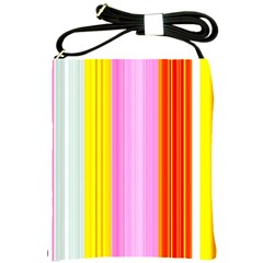 Multi Colored Bright Stripes Striped Background Wallpaper Shoulder Sling Bags