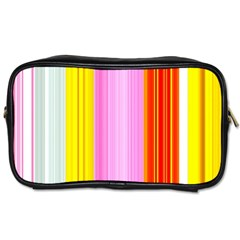 Multi Colored Bright Stripes Striped Background Wallpaper Toiletries Bags