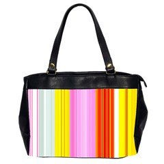 Multi Colored Bright Stripes Striped Background Wallpaper Office Handbags (2 Sides)