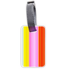 Multi Colored Bright Stripes Striped Background Wallpaper Luggage Tags (two Sides)