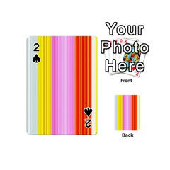 Multi Colored Bright Stripes Striped Background Wallpaper Playing Cards 54 (Mini)