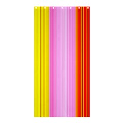Multi Colored Bright Stripes Striped Background Wallpaper Shower Curtain 36  X 72  (stall)