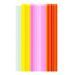 Multi Colored Bright Stripes Striped Background Wallpaper Shower Curtain 48  X 72  (small)