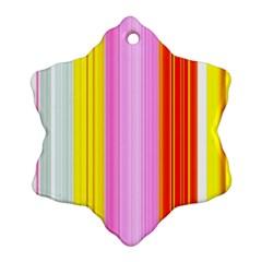 Multi Colored Bright Stripes Striped Background Wallpaper Ornament (snowflake)