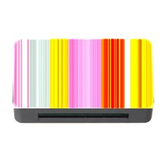 Multi Colored Bright Stripes Striped Background Wallpaper Memory Card Reader With Cf