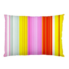 Multi Colored Bright Stripes Striped Background Wallpaper Pillow Case (two Sides)