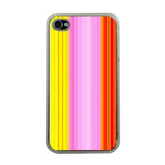 Multi Colored Bright Stripes Striped Background Wallpaper Apple Iphone 4 Case (clear)