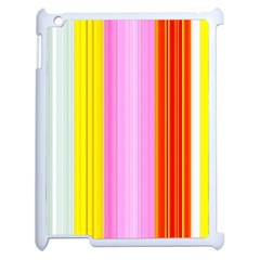 Multi Colored Bright Stripes Striped Background Wallpaper Apple Ipad 2 Case (white)