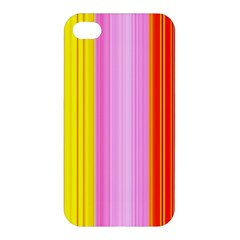 Multi Colored Bright Stripes Striped Background Wallpaper Apple Iphone 4/4s Hardshell Case