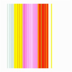 Multi Colored Bright Stripes Striped Background Wallpaper Small Garden Flag (two Sides)