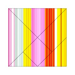 Multi Colored Bright Stripes Striped Background Wallpaper Acrylic Tangram Puzzle (6  X 6 )