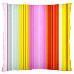 Multi Colored Bright Stripes Striped Background Wallpaper Large Cushion Case (One Side)