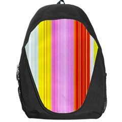 Multi Colored Bright Stripes Striped Background Wallpaper Backpack Bag