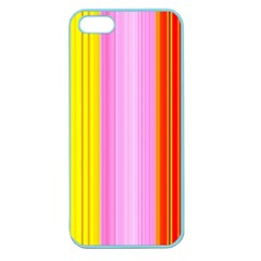 Multi Colored Bright Stripes Striped Background Wallpaper Apple Seamless Iphone 5 Case (color)