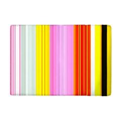 Multi Colored Bright Stripes Striped Background Wallpaper Apple Ipad Mini Flip Case