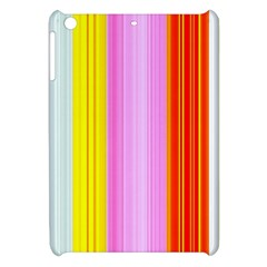 Multi Colored Bright Stripes Striped Background Wallpaper Apple Ipad Mini Hardshell Case