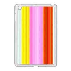 Multi Colored Bright Stripes Striped Background Wallpaper Apple Ipad Mini Case (white)