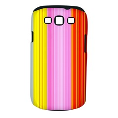 Multi Colored Bright Stripes Striped Background Wallpaper Samsung Galaxy S III Classic Hardshell Case (PC+Silicone)
