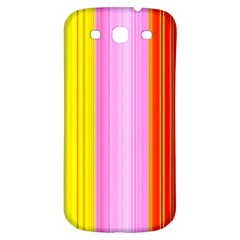 Multi Colored Bright Stripes Striped Background Wallpaper Samsung Galaxy S3 S Iii Classic Hardshell Back Case