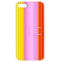 Multi Colored Bright Stripes Striped Background Wallpaper Apple Iphone 5 Hardshell Case With Stand