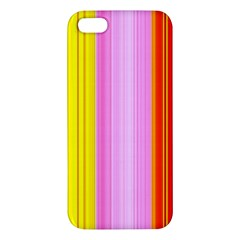 Multi Colored Bright Stripes Striped Background Wallpaper Apple Iphone 5 Premium Hardshell Case