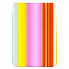 Multi Colored Bright Stripes Striped Background Wallpaper Flap Covers (S)