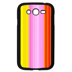 Multi Colored Bright Stripes Striped Background Wallpaper Samsung Galaxy Grand Duos I9082 Case (black)