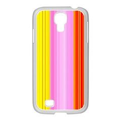 Multi Colored Bright Stripes Striped Background Wallpaper Samsung Galaxy S4 I9500/ I9505 Case (white)