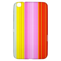 Multi Colored Bright Stripes Striped Background Wallpaper Samsung Galaxy Tab 3 (8 ) T3100 Hardshell Case
