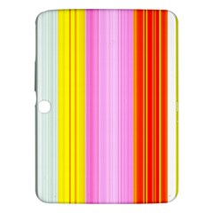 Multi Colored Bright Stripes Striped Background Wallpaper Samsung Galaxy Tab 3 (10 1 ) P5200 Hardshell Case