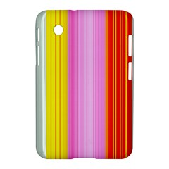 Multi Colored Bright Stripes Striped Background Wallpaper Samsung Galaxy Tab 2 (7 ) P3100 Hardshell Case