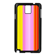 Multi Colored Bright Stripes Striped Background Wallpaper Samsung Galaxy Note 3 N9005 Case (black)