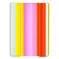 Multi Colored Bright Stripes Striped Background Wallpaper iPad Air Hardshell Cases