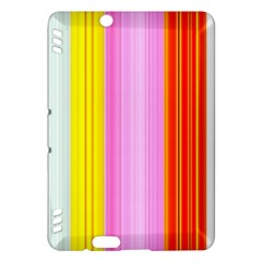 Multi Colored Bright Stripes Striped Background Wallpaper Kindle Fire Hdx Hardshell Case