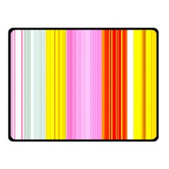 Multi Colored Bright Stripes Striped Background Wallpaper Double Sided Fleece Blanket (Small)