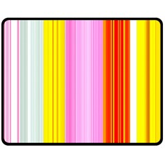 Multi Colored Bright Stripes Striped Background Wallpaper Double Sided Fleece Blanket (medium)