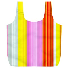 Multi Colored Bright Stripes Striped Background Wallpaper Full Print Recycle Bags (l)