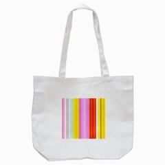 Multi Colored Bright Stripes Striped Background Wallpaper Tote Bag (white)