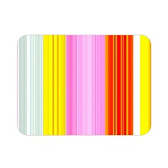 Multi Colored Bright Stripes Striped Background Wallpaper Double Sided Flano Blanket (Mini)