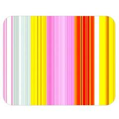 Multi Colored Bright Stripes Striped Background Wallpaper Double Sided Flano Blanket (medium)